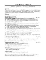 Resume Finance Resume Example