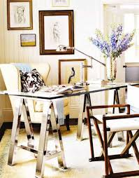 cottage style office. Cottage Home Office Design Style With Modern Desk And Swing Arm Task Lamp : E