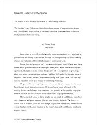 descriptive essay examples sample essay of description