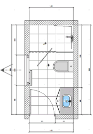 Small Bathroom Layout A X Ensuite ...