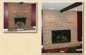 hinsdale brick fireplace staining painting refinishing how to paint fireplace surround how to reface fireplace surround