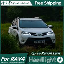 AKD Car Styling for Toyota RAV4 LED Headlights 2014 2015 New RAV4 ...