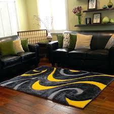 5x7 yellow rug grey yellow