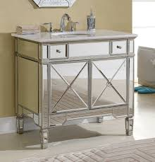 Mirrored Bathroom Vanity This Adelina 36 Inch Mirrored Silver Bathroom Vanity Will Add