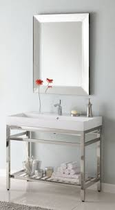 40 inch vanity base. Contemporary Vanity 40 Inch Single Sink Console Bathroom Vanity With Choice Of Metal Base  Finish And White Ceramic UVEISB40 For Pinterest