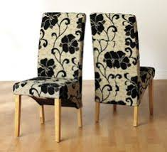 dining room dining room chairs white armless chair with black flower pattern light wooden floor white wall mesmerizing funky dining room chairs