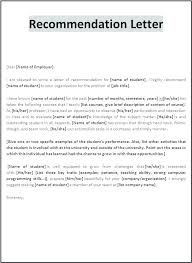 Recommendation Letter Template Reference Rker Free Printable