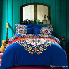 cotton comforter sets king bohemian bed sets blue bohemian bedding set queen king size style duvet