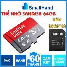 Thẻ nhớ SanDisk 64GB Chính hãng – Bảo hành 5 năm – SanDisk Ultra MicroSD –  Kèm Adapter