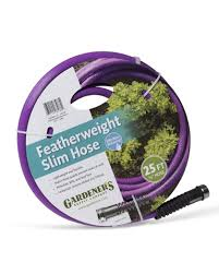 25 ft garden hose. Image Of The Purple 25 Ft Featherweight Slim Hose Coiled Up And In Its Packaging Garden G