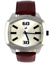 fastrack 3119sl01 casual leather watch for men buy fastrack fastrack 3119sl01 casual leather watch for men