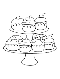Trend cupcake coloring page 81 for your seasonal colouring pages. Cupcake Stand Coloring Page Etsy