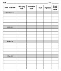 Food Plan Template 28 Meal Plan Templates Free Premium Templates