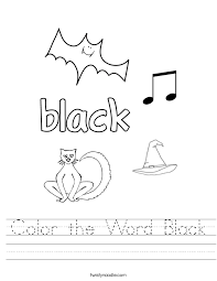word for black and white white color word worksheets worksheets for all download and share