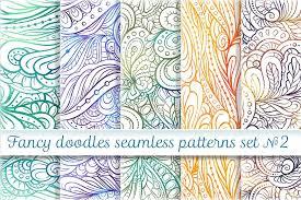 Fancy Patterns Beauteous Fancy Doodles Seamless Pattern Set 48 By Design Bundles