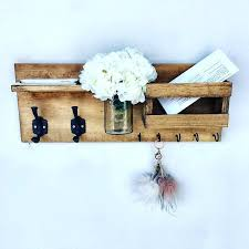 mail holder wall mail organizer key holder wall mail holder wall mount wood