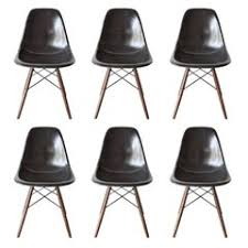 eames dining chair. Set Of Six Eames Black Dsw Herman Miller, USA Dining Chairs Chair