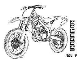 Excellent Dirt Bike Coloring Page Dreadeorg