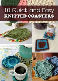 Knit Coaster Pattern Simple Decorating Ideas