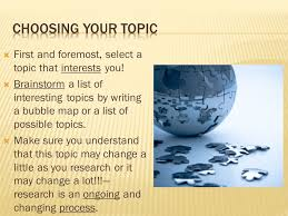 sol assessment review choose your topic preliminary first and foremost select a topic that interests you