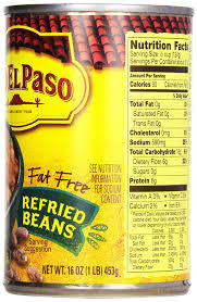 old el paso fat free refried beans 16 oz can pack of 12 amazon grocery gourmet food