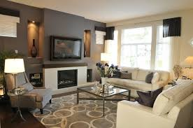 Impressive Lovely Accent Walls In Living Room Modern Living Space With Drak  Grey Accent Wall Living