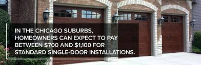 how much does a garage door installation cost in the suburbs homeowners can expect to pay