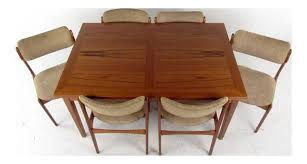 pier one round table pretty lovely mid century skovby teak dining table and six od mobler chairs