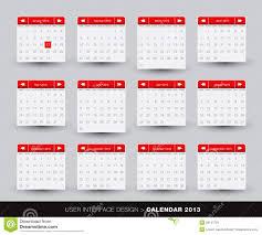 Monthly Calendar 2013 2013 Monthly Calendar Design For Mobile Phone Stock