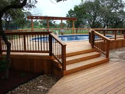Wood Pool Deck Pool Deck Repair All County Landscape Hardscape