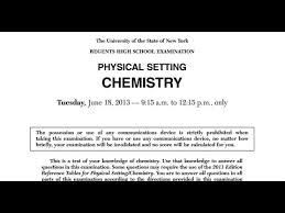 2013 June Chemistry Regents Mc Solutions