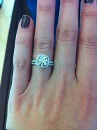 lustrelux wedding ring. would love to see any halo engagement rings with their wedding bands, same finger please! lustrelux ring o