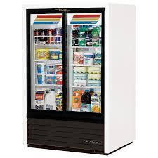 2 door glass door freezer made by true in marietta ga