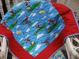Curious George Baby Toddler Stroller Play quilt | Baby & toddler ... & Curious George Quilt. So cute. Adamdwight.com