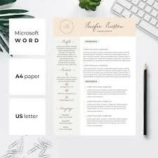Modern Resume Template Windows Details About Modern And Professional Resume Template Cv A4 And Us Letter Pink Resume