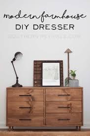 wood dresser vignette