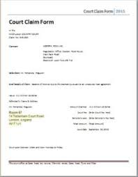 Court Document Templates Official Claim Form Templates For Word Excel Templateinn