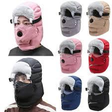 Unisex <b>Women Men</b> Winter Warm Windproof Trapper Hat with Face ...
