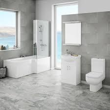 cove modern shower bath suite  victorian plumbing uk