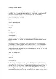 Job Cover Letter Sample For Resume How To Write And Internship