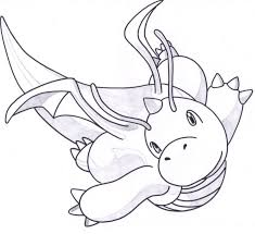 Small Picture Pokemon Coloring Pages Dragonite 77980 Pokemonpng Coloring Page