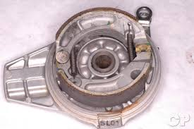 honda crf150f online motorcycle service manual cyclepedia crf150f rear drum brake shoe replacement