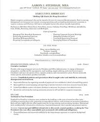 Executive Administrative Assistant Resume Examples Executive