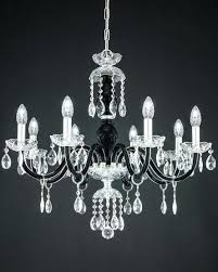 chandeliers black chandeliers ch 8 chrome black crystal chandelier view 1 black metal chandeliers uk