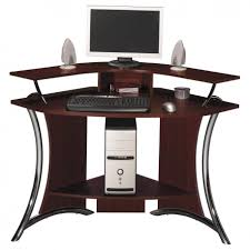 amusing home computer. Fabulous Corner Computer Desks For Home Office Furniture : Modern Solid Wood Desk With Steel Frame And CPU Storage Amusing Workspace U