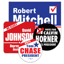 political campaign bumper stickers custom printed stickers lapel stickers
