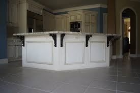 incomparable kitchen island overhang support from black metal