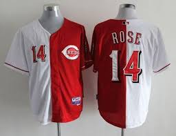 Split Fashion Jersey Stitched Pete Jerseys In Baseball Jerseys 14 Mlb Reds white Red Cheap 2019 Rose