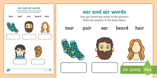 Or go to the answers. Ear And Air Sounds Matching Activity Worksheet