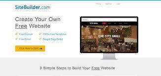build a free website online sitebuilder review best website builders